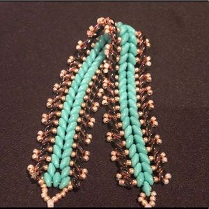 Turquoise and Rose Gold Bracelet.